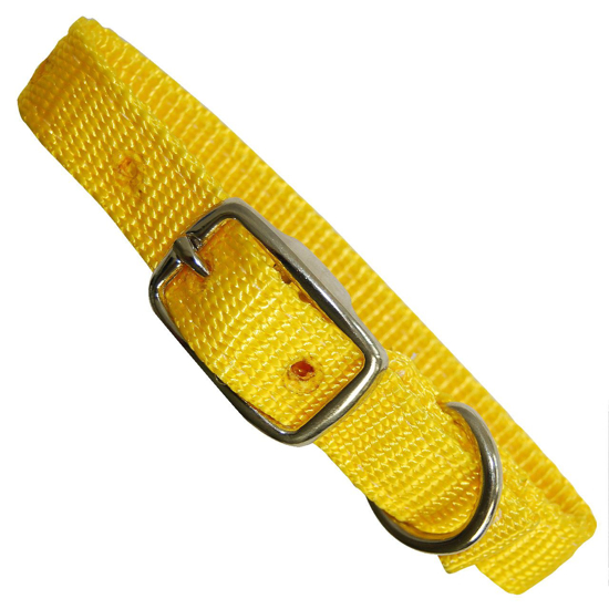 """Picture of Yellow 3/4""""x14"""" Dog Collar"""