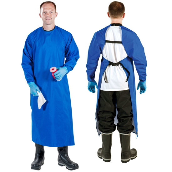Picture of Udder Tech Blue Sleeve Apron with Thumb Hole