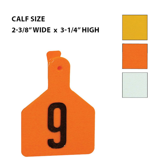 Picture of Z-Tag Calf Eartag, 25 tags, Numbered