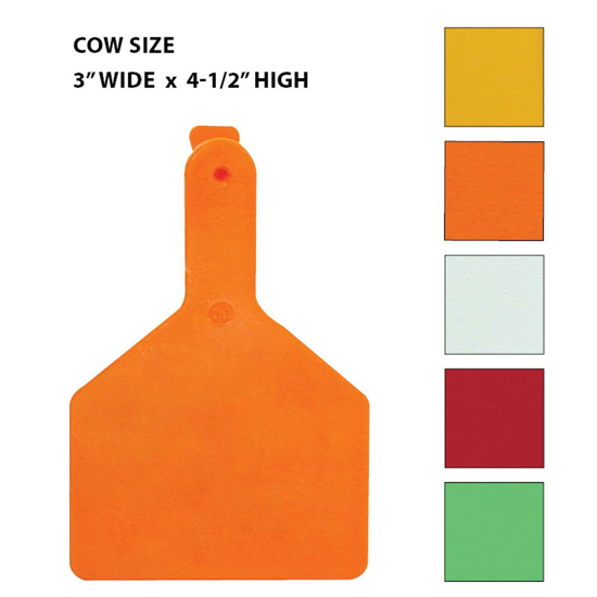 Picture of Z-Tag Cow Eartag, 25 tags, Blank