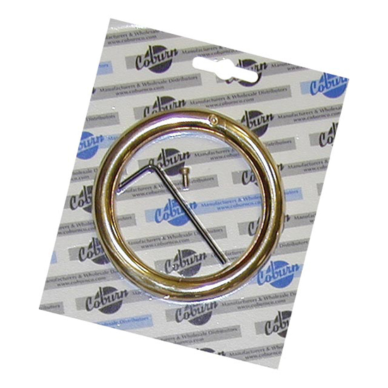 """Picture of 3/8"""" x 3"""" Bull Ring in Blister Pack"""