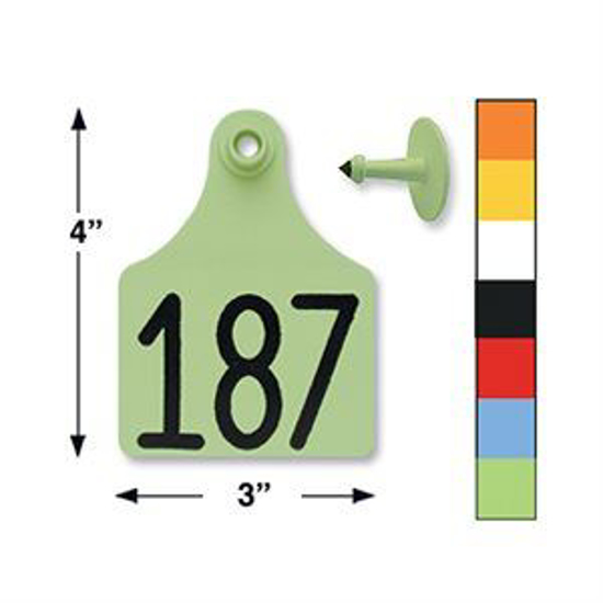 Picture of Allflex Maxi Eartags, 25 tags