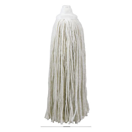 Picture of White, Antibacterial Threaded Mop - 18 oz.