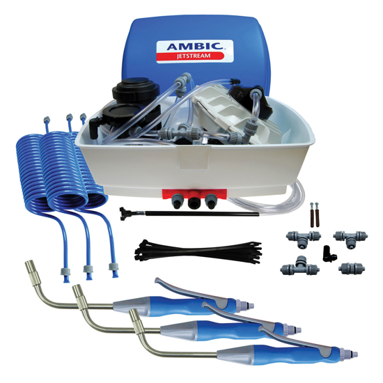 Picture of Ambic JetStream Teat Sprayer with 3 Stainless Steel Tip Guns