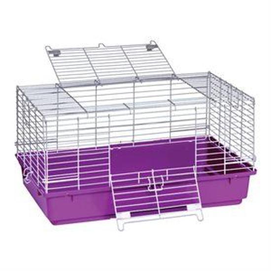 Picture of Purple Plastic Bottom Rabbit Cage--Medium