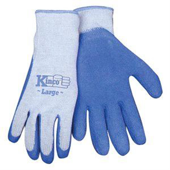 Picture of Blue Latex Palm Gloves