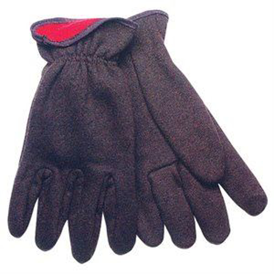 Picture of Brown Red-Lined Jersey Gloves
