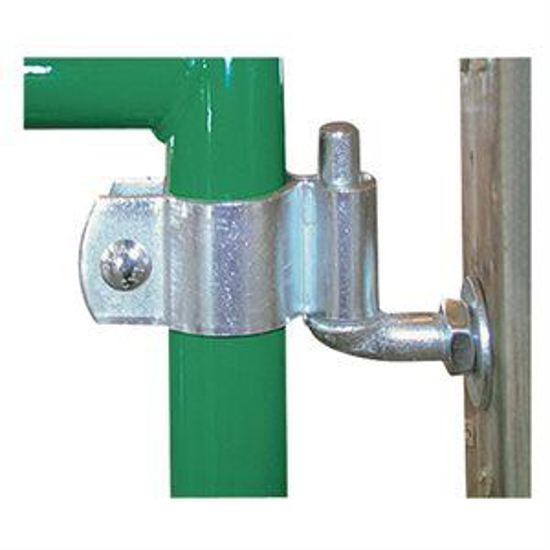 """Picture of Gate Hinge Set f/1-5/8"""" to 1-3/4"""" OD Round Tube Gate"""