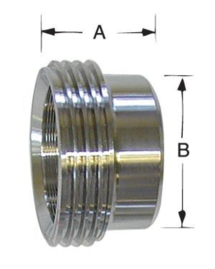 Picture of Thread Bevel-Seat Recessless Roll-On Ferrule