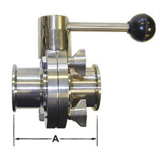 Picture of Type 316 Butterfly Valve (Clamp/Clamp)