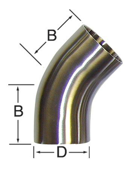 Picture of 45-Degree Bend (Weld/Weld)